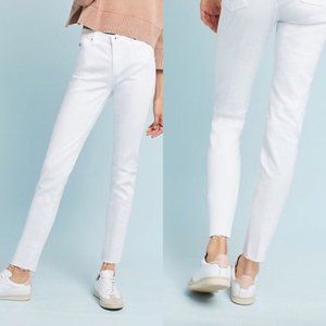 AG Adriano Goldschmied 25 White Stevie Ankle Jeans